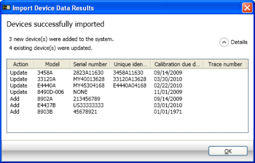 Import Device Data - Export Device Data